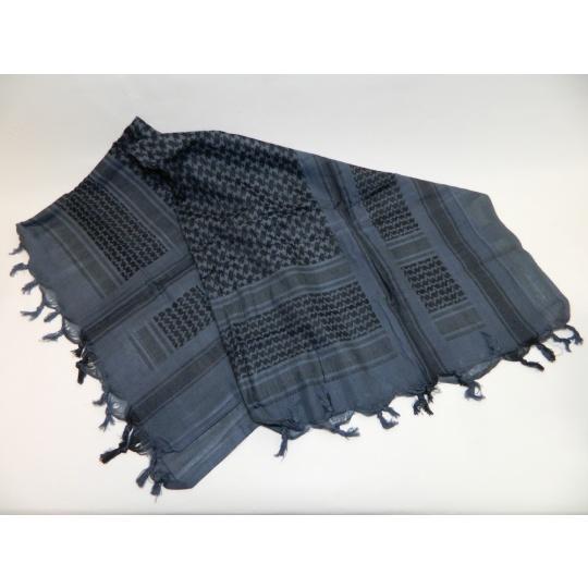 šátek palestina modro-černá PETREQ 110x110