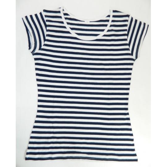 triko dámské námořník krátký rukáv