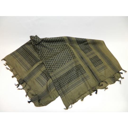 šátek palestina zeleno-černá PETREQ 110x110