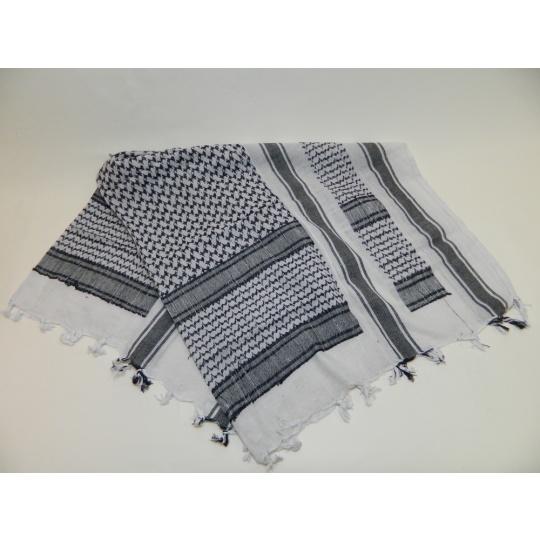šátek palestina černo-bílá PETREQ 110x110