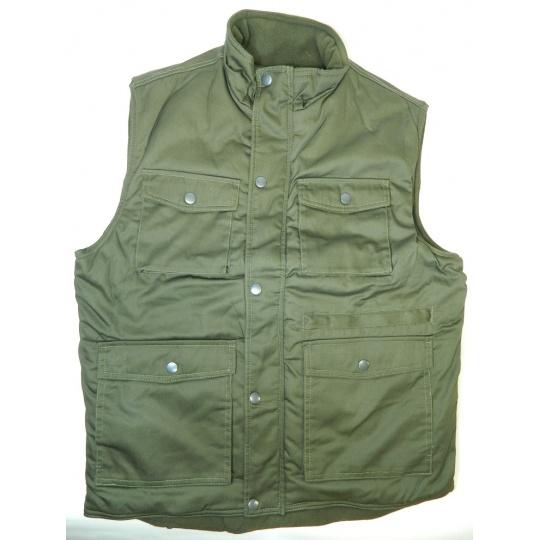 vesta zimní zelená s druky