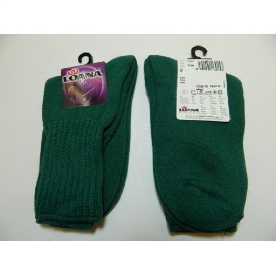 ponožky dětské zelené teplé LOANA