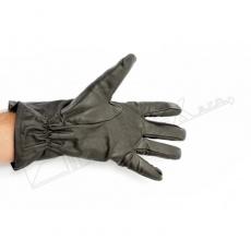 rukavice zimní kožené hnědé