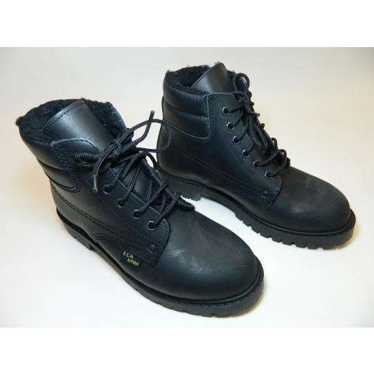 boty černé zimní semiš KRÁL