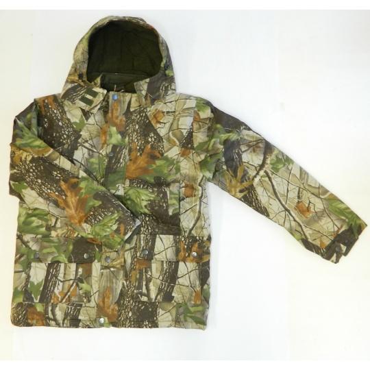 bunda zimní lovecká potisk LIST
