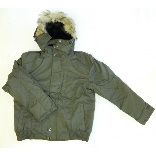 bunda zimní zelená s kapucí