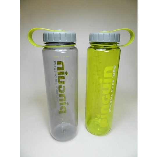 láhev 1L žlutá Tritan Slim Bottle Pinguin