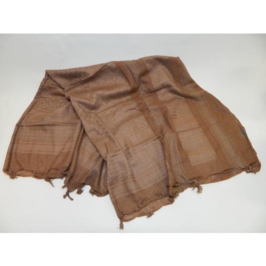 šátek palestina hnědá PETREQ 110x110