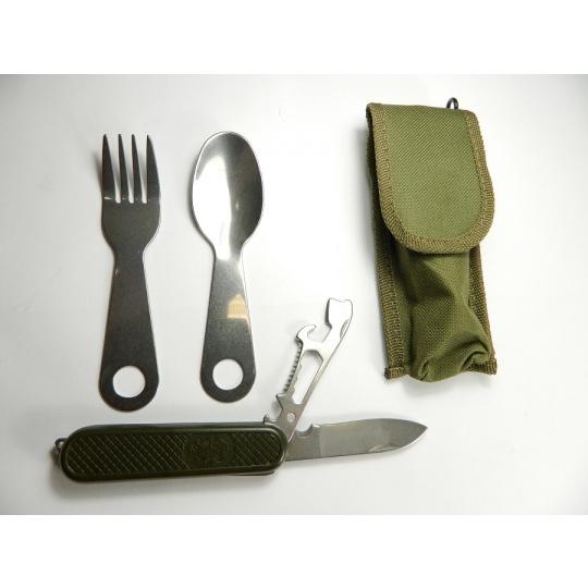 nůž jídelní zelený