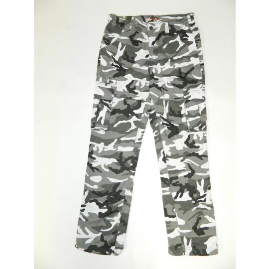 kalhoty UNI černobílé