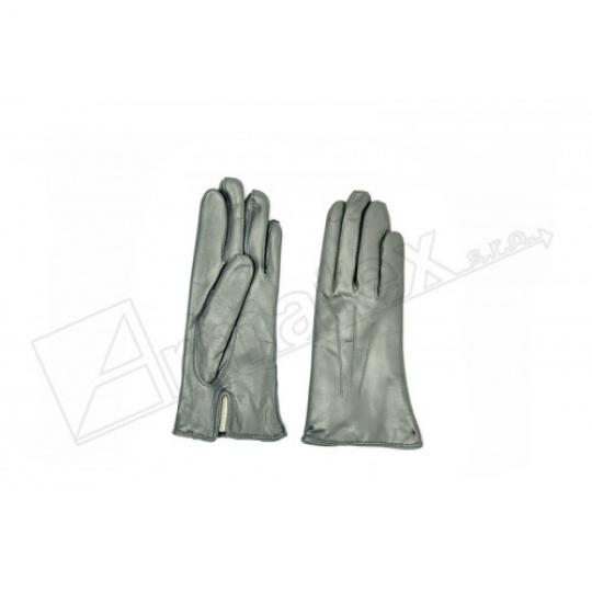 rukavice zimní kožené šedé