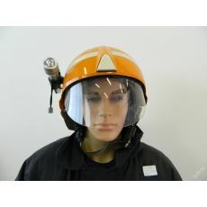 přilba hasiči SCHUBERTH F210 použitá s baterkou