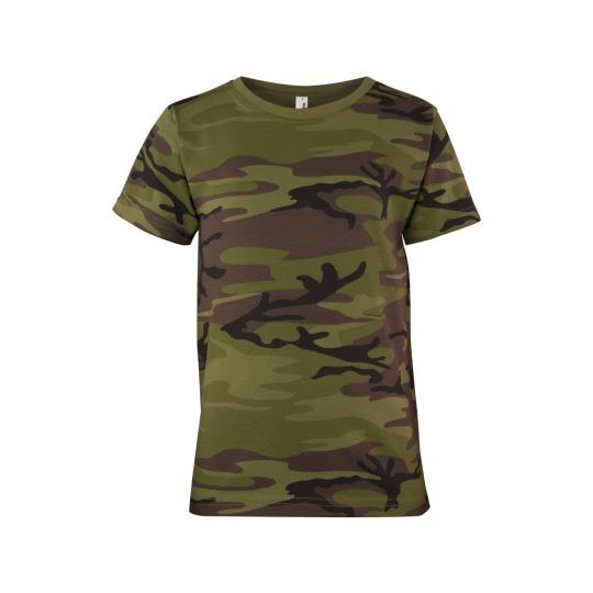 triko dětské Military krátký rukáv