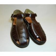 sandály hnědé