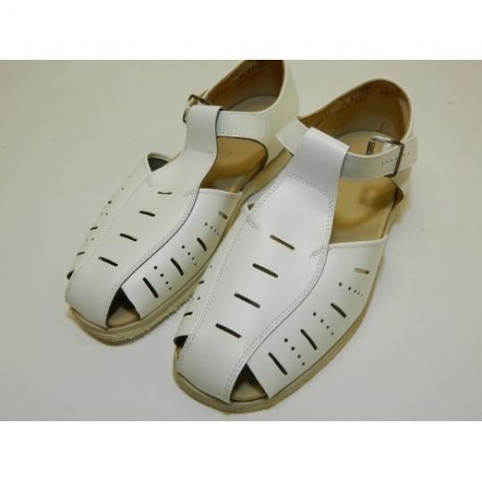 sandály bílé