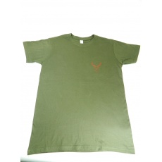 triko zelené potisk jelen