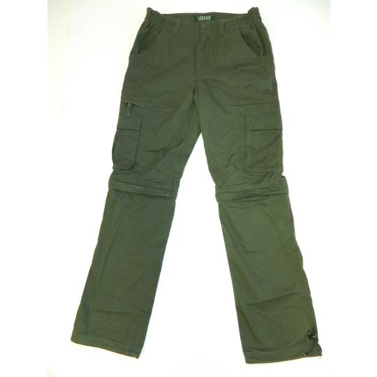 kalhoty UNI zip zelené